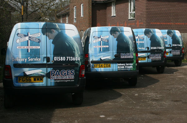 Pages Newsagents vans